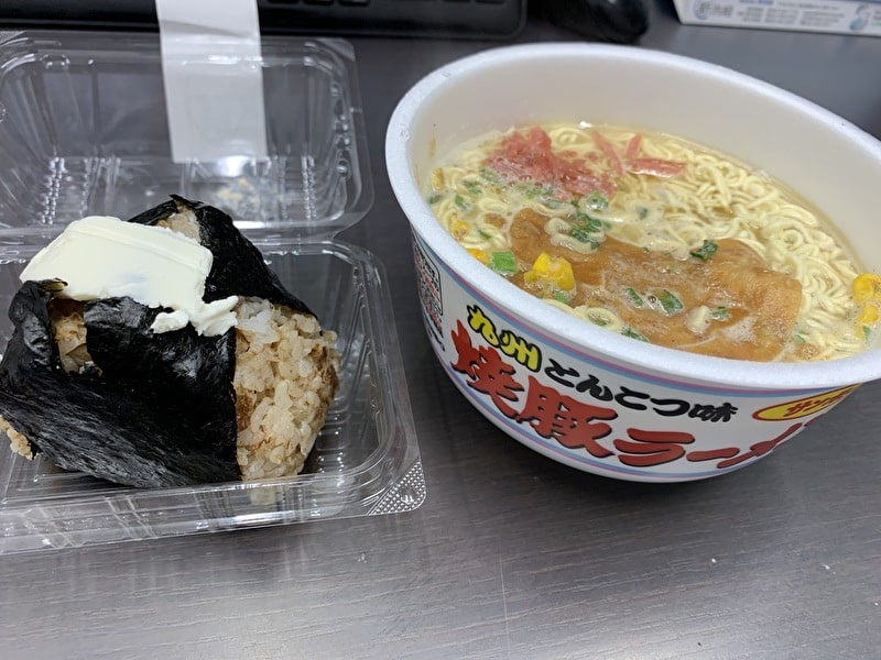 【おむすび ごっつ食べなはれ】中目黒 カップ麺と食べる