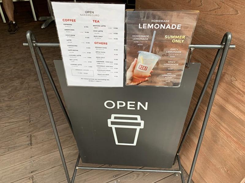 OPEN NAKAMEGURO カフェ 中目黒 メニュー