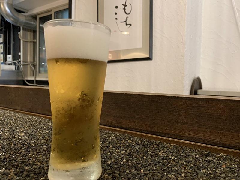中目黒 うどん もちこし 生ビール