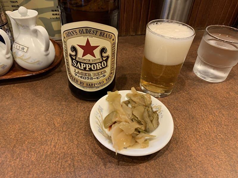 鶏舎 中目黒 池尻 中華料理 瓶ビール