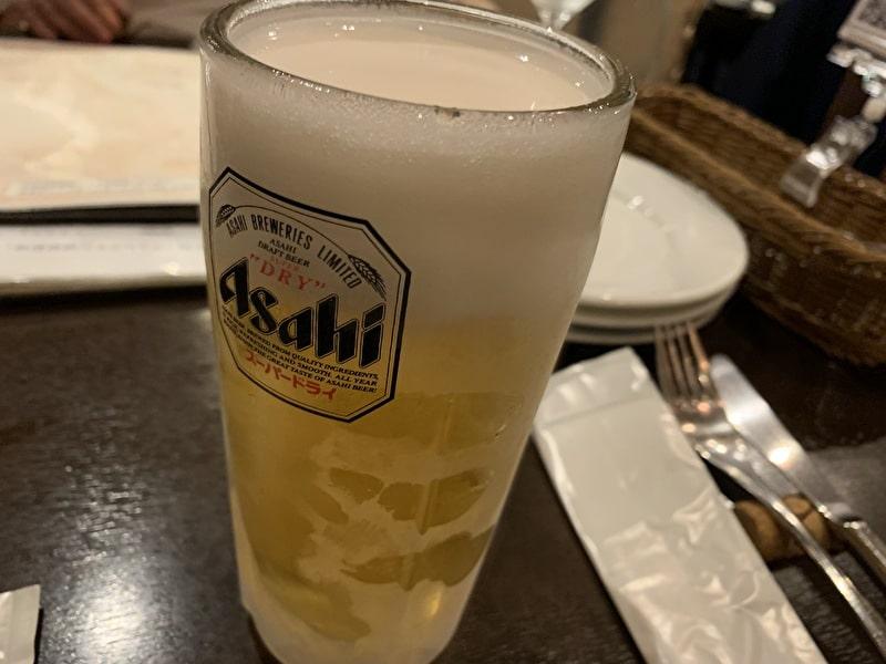 中目黒 コロッセオ 生ビール