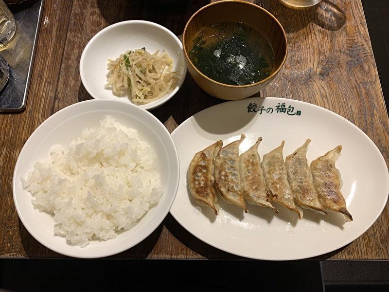 餃子の福包 中目黒 餃子ランチ500円