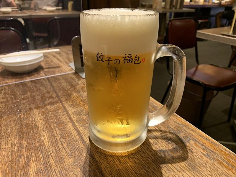 餃子の福包 中目黒 生ビール500円