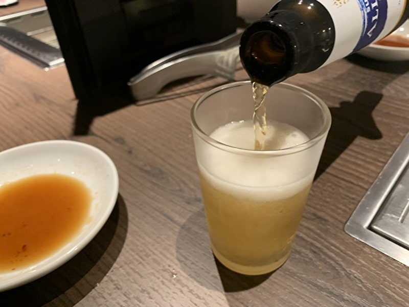 中目黒 焼肉りんご ノンアルビール
