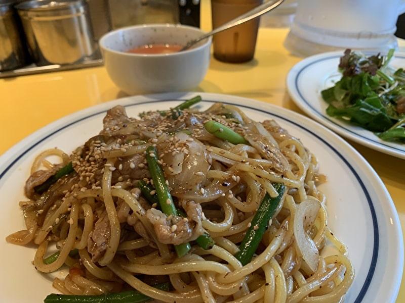 中目黒 関谷スパゲティ 今月のオススメ 牛バラ肉とにんにくの目XO醤炒め