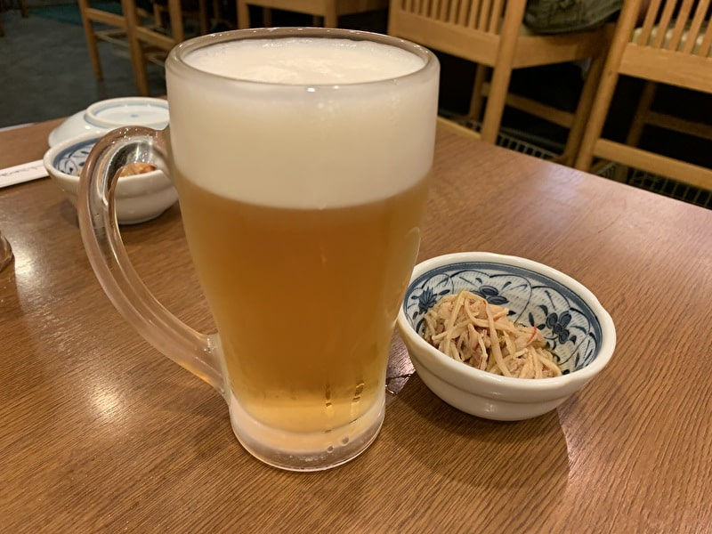 いろは寿司 中目黒 中ビールとお通し