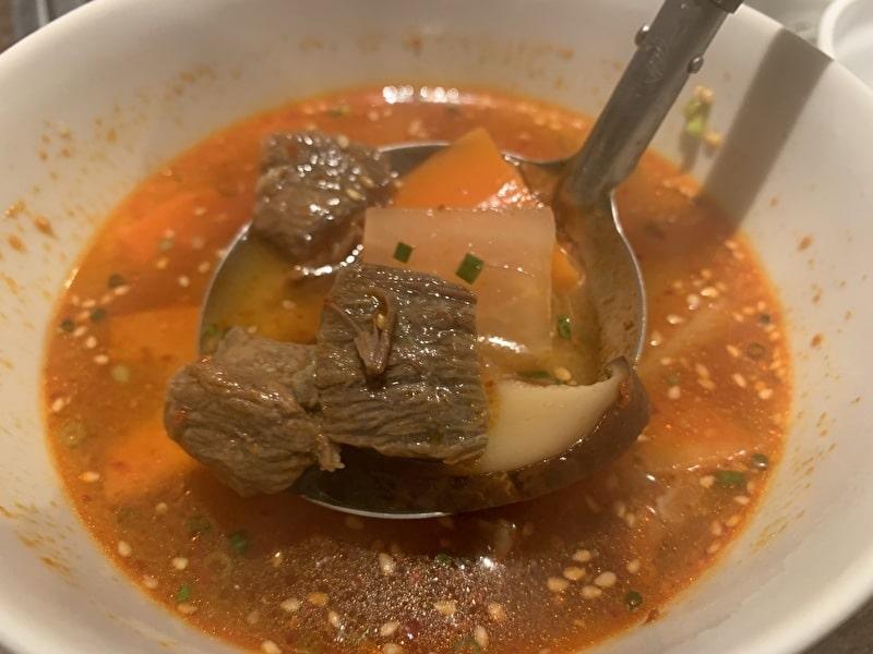 中目黒 焼肉りんご カルビスープ