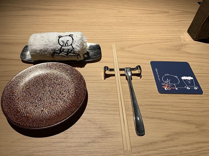 中目黒 熊の焼鳥 テーブルセット