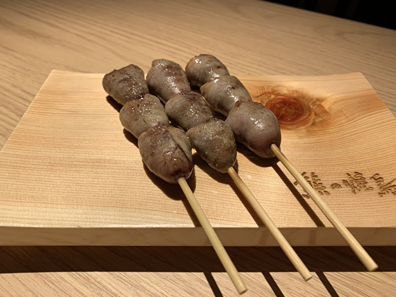 中目黒 熊の焼鳥 丸ハツ(塩)