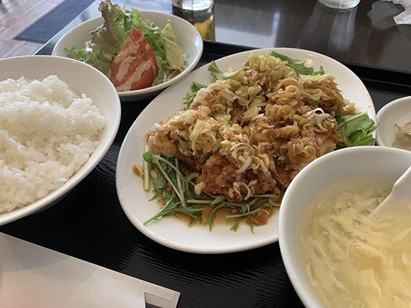 中目黒 幸楽 中華 油淋鶏定食