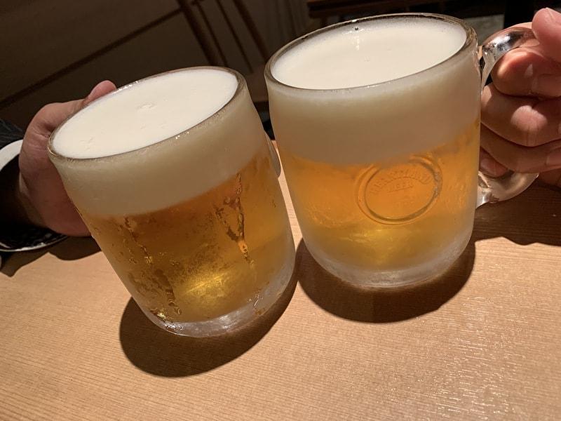 二○加屋長介 中目黒 生ビール