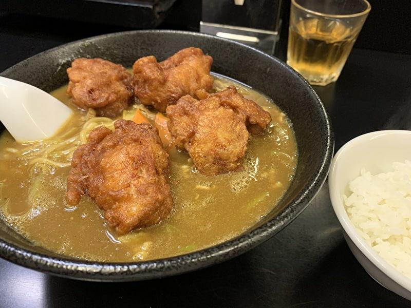 中目黒 宗楽 唐揚げカレーラーメン