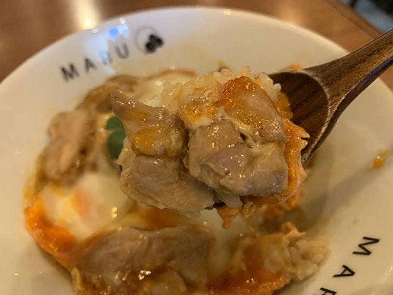 中目黒 MARU 親子丼食べる