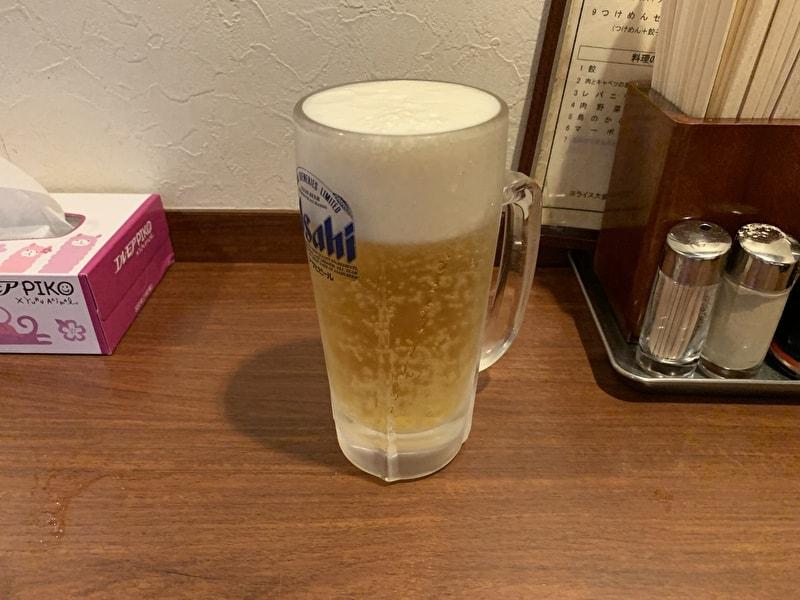 高伸 中目黒 中華 ビール