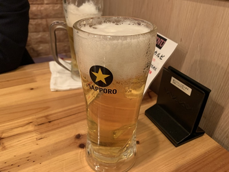 中目黒 おばんざい ソウル小町 生ビール