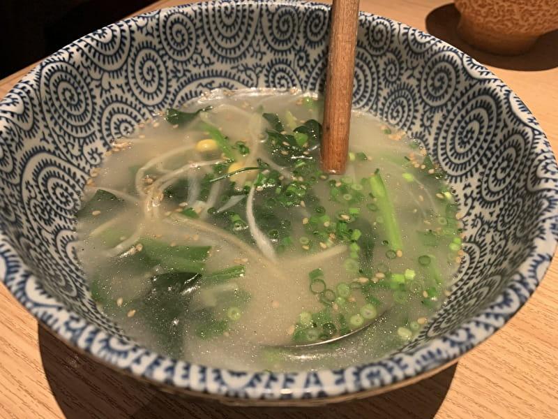 東京苑 祐天寺 わかめスープ