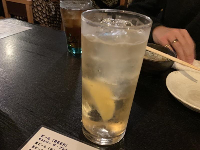中目黒 串若丸 レモンサワー