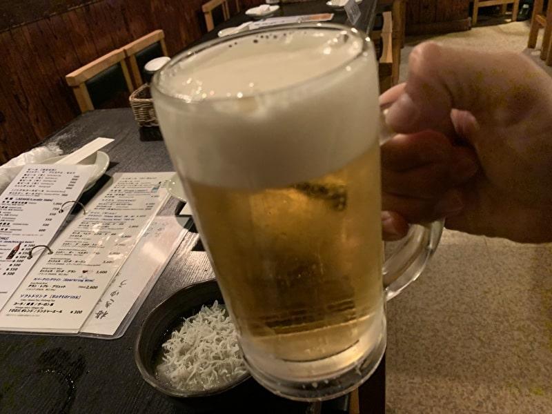 中目黒 串若丸 生ビール