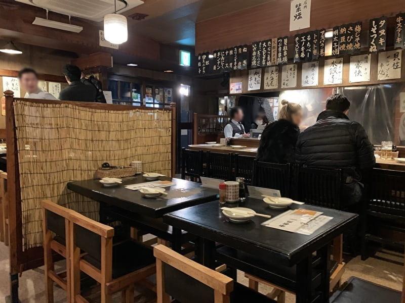 中目黒 串若丸 店内