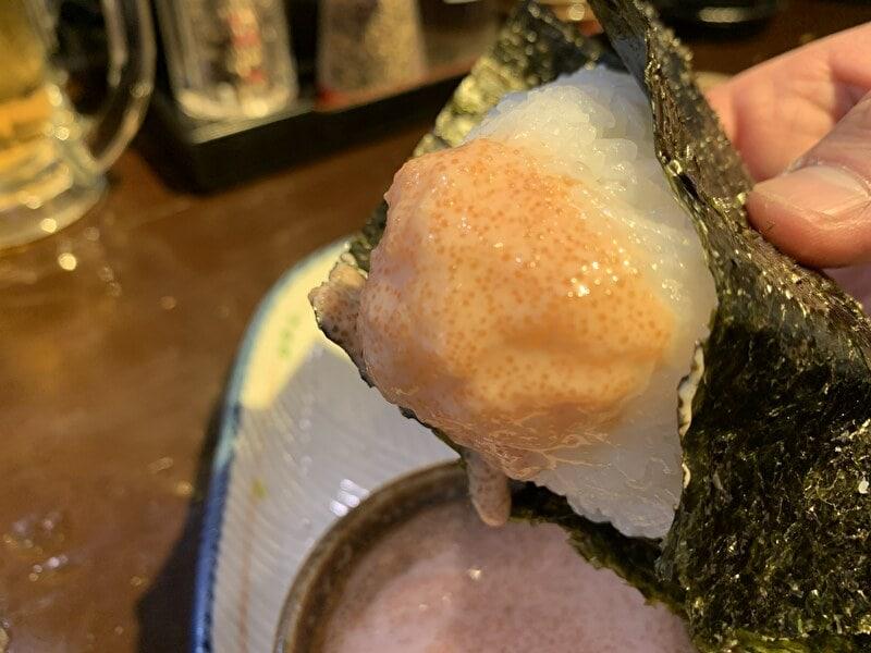 神泉 麺の坊 砦 明太子おむすび