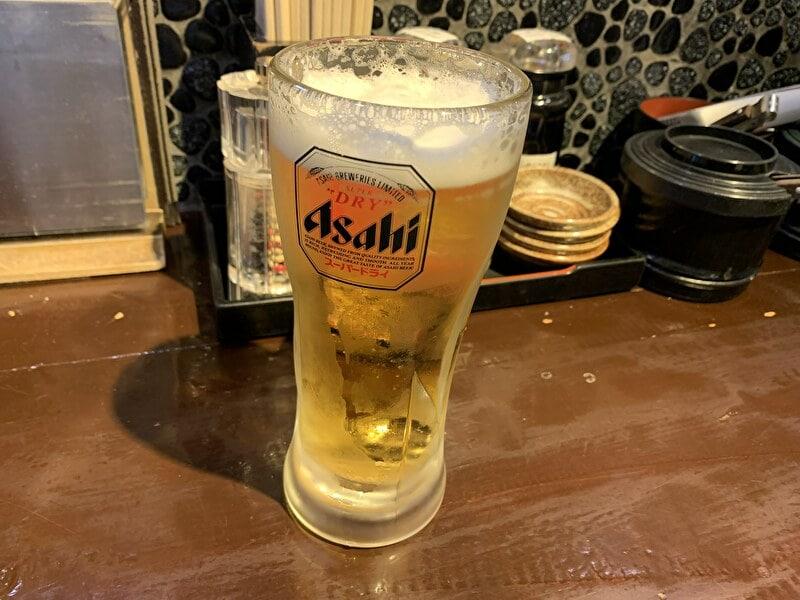 神泉 麺の坊 砦 生ビール