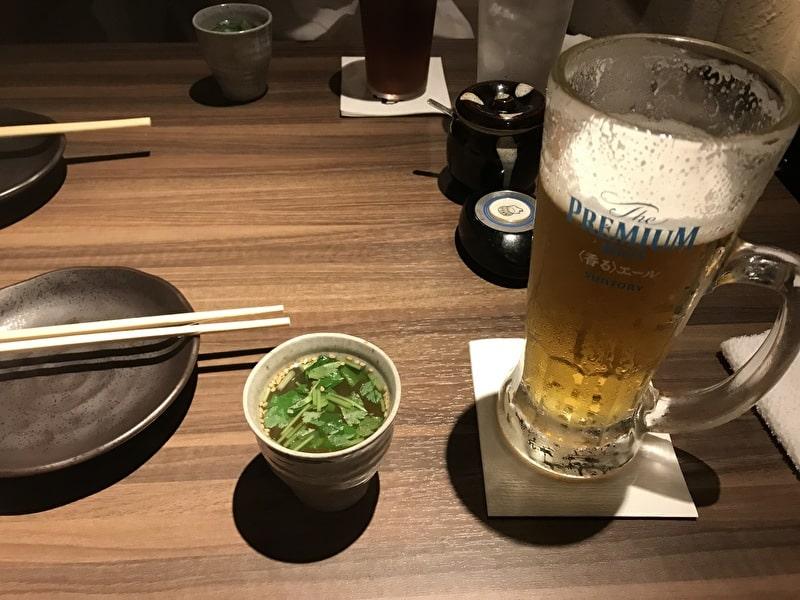 渋谷(松濤) お汐井 お通し ビール