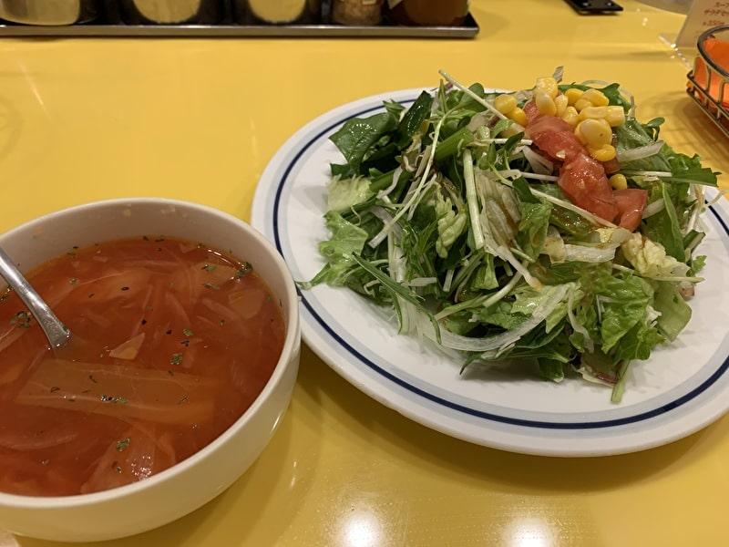 関谷スパゲティ 中目黒 スープサラダセット