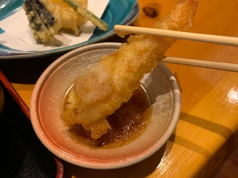 中目黒 ヒカリ 海老の天ぷら