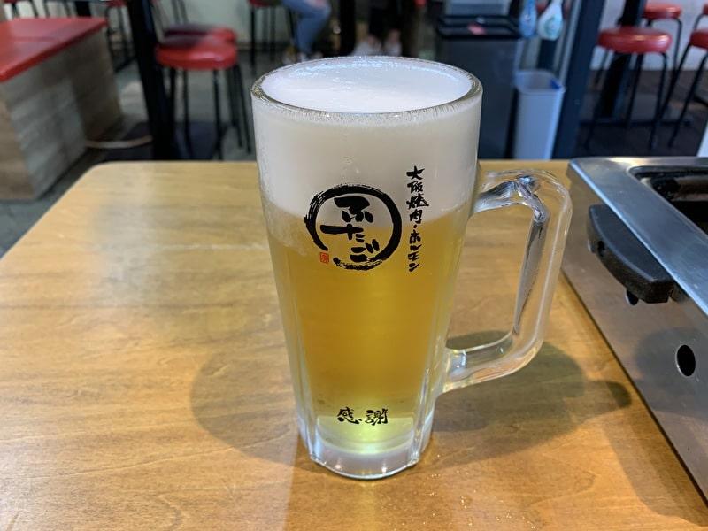 大阪焼肉・ホルモン ふたご 生ビール